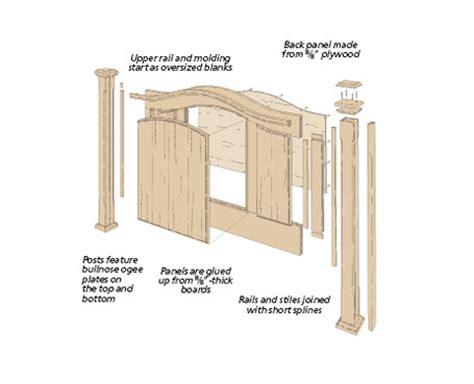 headboard plans woodworking arch top headboard woodsmith plans