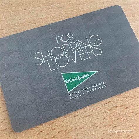tarjeta de compras del corte ingles la tarjeta de descuento de el corte ingl 233 s para turistas