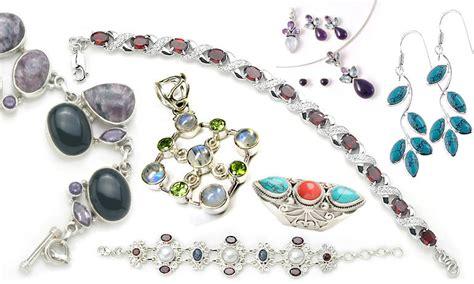 semi precious wholesale india silver jewelry exporters india silver jewelry
