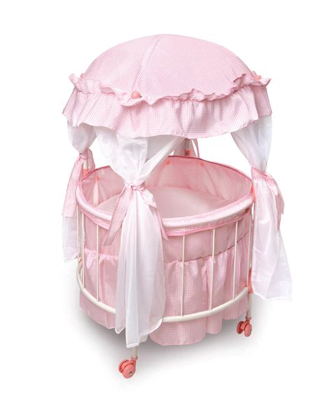 doll baby crib royal pavilion doll crib with canoby and bedding