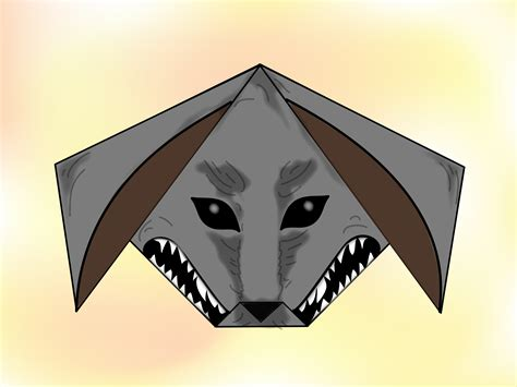 wolf origami how to make an origami wolf 11 steps with pictures