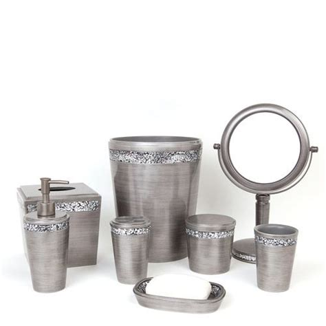 silver bathroom accessories sets altair toothbrush holder accessories master bath and