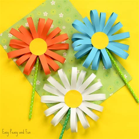 paper cutting flowers crafts paper flower craft easy peasy and