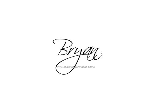 bryan name tattoo designs