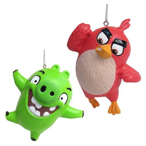 angry bird ornaments angry birds figural ornament set kurt s adler angry