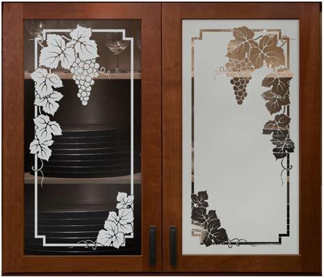 kitchen door designs glass vineyard grapes cabinet glass sans soucie shown here in