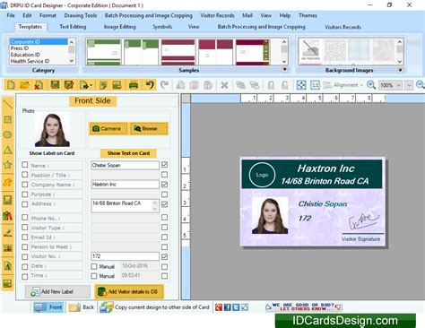 identity card software free id cards design software 8 5 3 2 free software