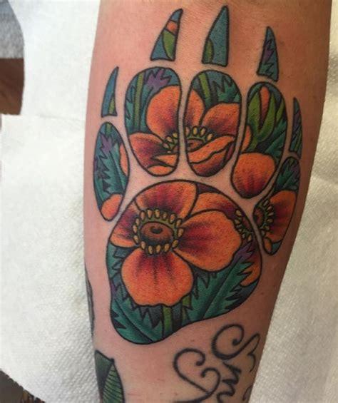 bear paw tattoo 45 claw print tattoo ideas