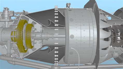 pt6a and pt6t engine parts shrouded turbine blades view pratt whitney pt6a turboprop turbine animation youtube