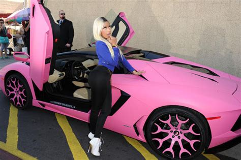 glow in the paint nigeria nicki minaj unveils pink lamborghini aventador for