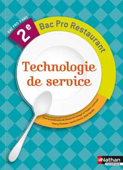 livre technologie de service 2e bac pro restaurant chusseau thierry knecht laetitia