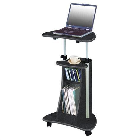 rolling standing desk techni mobili cadmus stand graphite mobile laptop cart