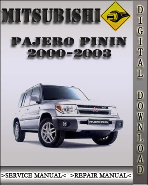 auto repair manual online 1998 mitsubishi pajero user handbook 2000 2003 mitsubishi pajero pinin factory service repair manual 200