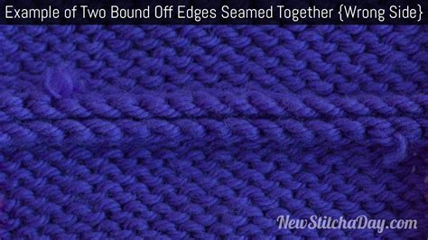 knit together in how to knit seaming two bind edges together