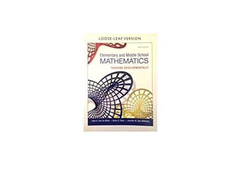 elementary and middle school mathematics teaching developmentally 8th edition teaching student centered mathematics series cheap mathematics books subjects education teaching