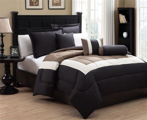 black and brown comforter sets 6 king tranquil black and taupe comforter set