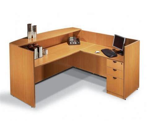 buy office desks single pedestal reversible contemporary reception desk