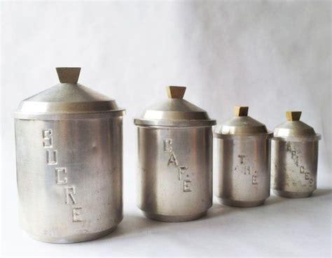 metal kitchen canister sets set of 4 vintage kitchen canisters white metal