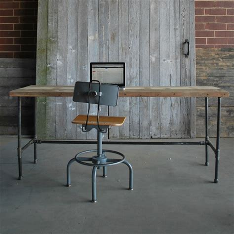 modern industrial desk reclaimed desk modern wood office desk industrial