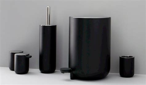Black And White Bathroom Accessories by Classic Look With White And Black Bathroom Accessories