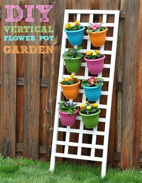 diy flower garden diy vertical flower pot garden for the home