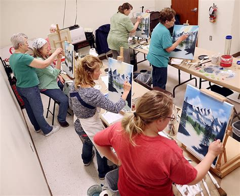 bob ross painting instructor classes cairo teaches painting class 9 months a year cairo