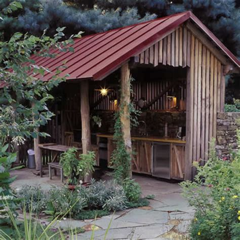 outdoor cooking area garage and shed outdoor cooking area design ideas