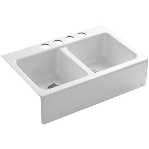 apron front kitchen sink white shop kohler hawthorne 22 12 in x 33 in white basin