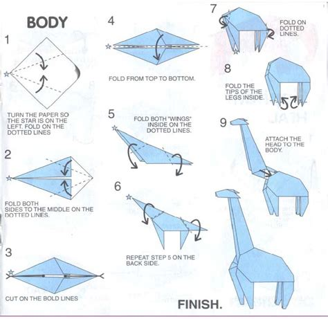 origami animals diagrams origami giraffe deer