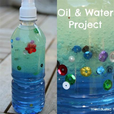 water bottle crafts projects and water project for early