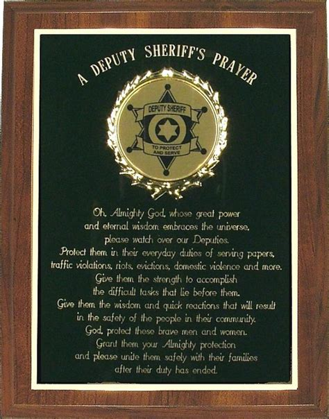 custom prayer custom deputy sheriff s prayer plaque can be