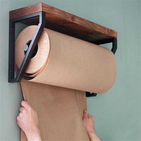 craft paper dispenser make this kraft paper roll dispenser made diy