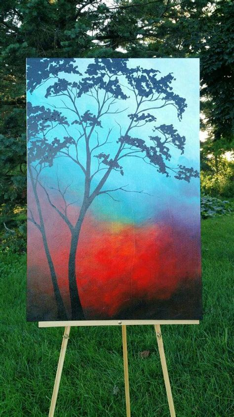 easy acrylic painting ideas trees best 25 tree paintings ideas on painting