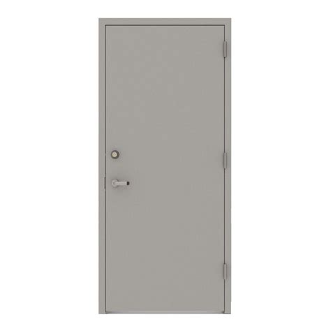 steel exterior door l i f industries 36 in x 80 in gray flush left