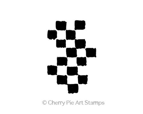 cherry pie rubber sts large checkers journal cling rubber cherrypie