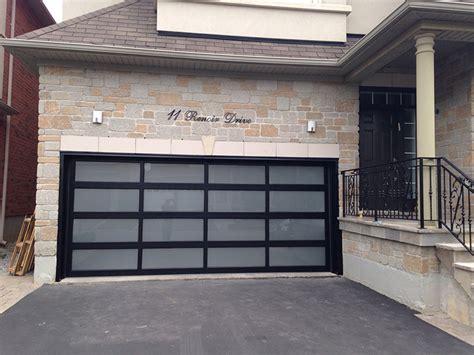 modern glass garage doors modern aluminum glass garage door with frosted door lites