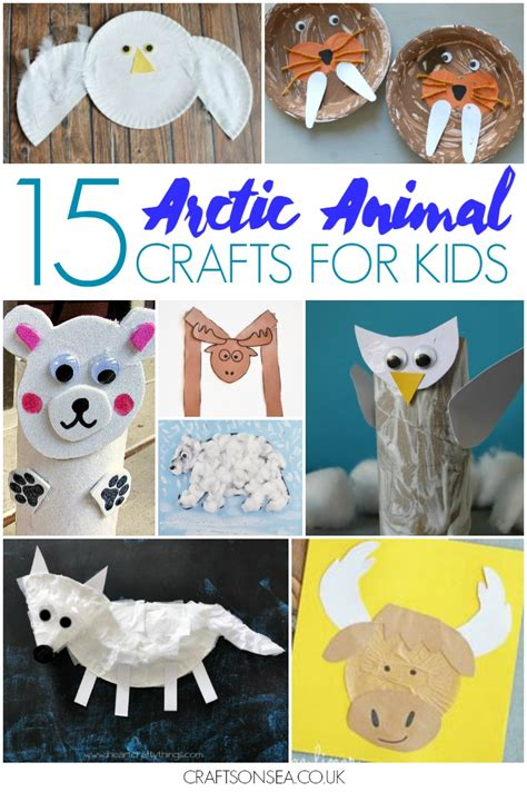 animal crafts for 15 arctic animal crafts for crafts on sea