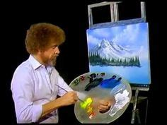bob ross painting time lapse de pintura en tela on bob ross bob