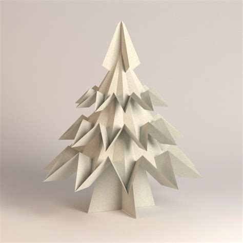 origami paper tree 3d model of paper tree