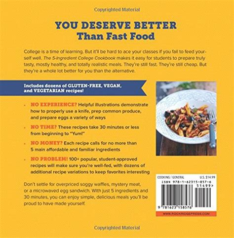 the 5 ingredient college cookbook easy healthy recipes for the next four years beyond shop by makham books k 12 teaching resources by