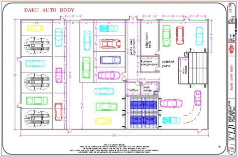 automotive shop floor plans auto repair shop building plans floor related keywords