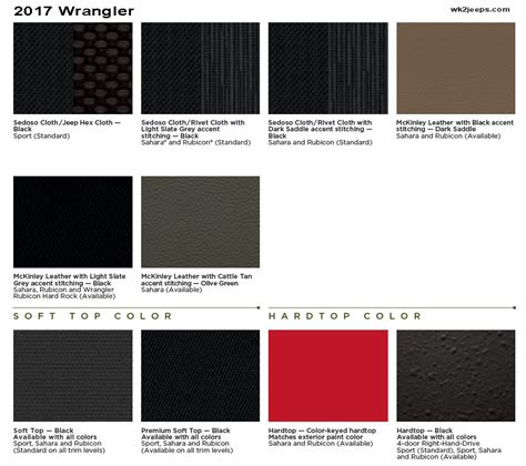 paint colors unlimited 2017 wrangler jk information thread jeep garage jeep forum