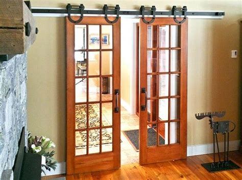 stylish interior barn door with glass and glass barn doors