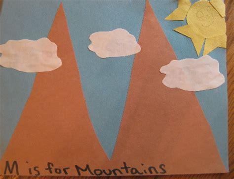 mountain crafts for letter quot mm quot ceres childcare preschool quot