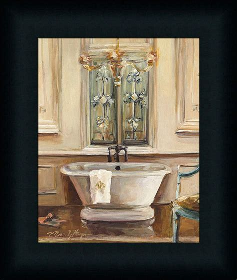 Spa Artwork For Bathrooms by Classical Bath Iii Traditional Bathroom Spa Framed