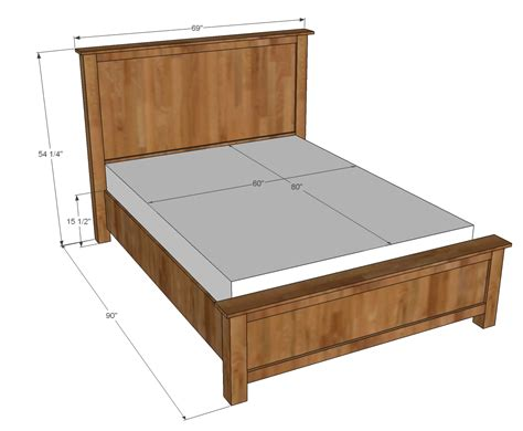 king bed plans woodworking white wood shim cassidy bed diy projects