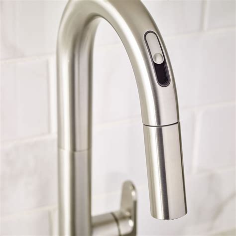 free kitchen faucets beale pull kitchen faucet with selectronic free technology american standard