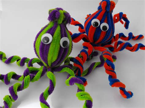 pipe cleaner craft pipe cleaner octopus family crafts