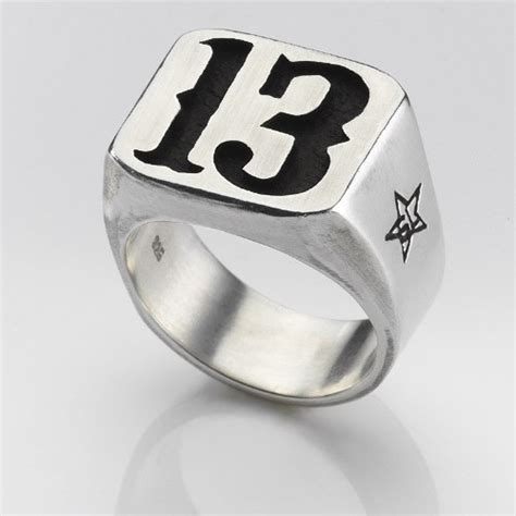 lucky number 13 items similar to lucky number 13 ring in solid silver and