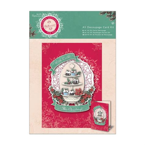 decoupage card kits bellissima a5 decoupage card kit docrafts from